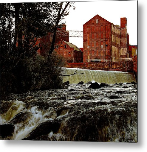 Water Metal Print featuring the photograph Old River Dam In Columbus Georgia by Ruben Flanagan