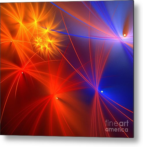 Apophysis Metal Print featuring the digital art Primary Wishes by Kim Sy Ok