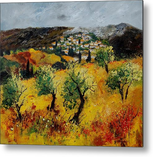 Provence Metal Print featuring the painting Provence 789080 by Pol Ledent