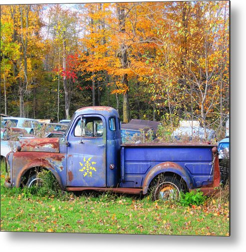 Fall Metal Print featuring the photograph Purple Sunshine by Rich Brandt