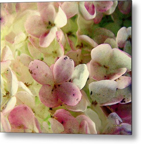 Floral Metal Print featuring the digital art Romance In Pink And Green by RC DeWinter