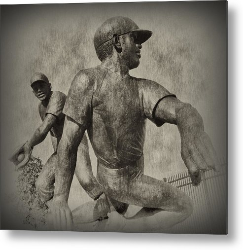 Baseball Metal Print featuring the photograph Stealing Third by Bill Cannon