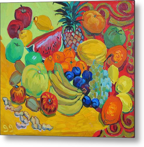 Fruits Metal Print featuring the painting Sweet Fruits by Vitali Komarov
