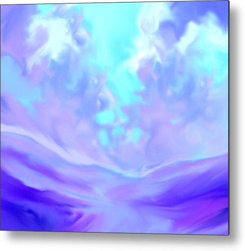 God Metal Print featuring the painting Talking With God Iv by Anne Hamilton