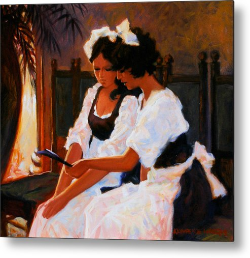 Interior Scene Metal Print featuring the painting Today's Special by Kevin Lawrence Leveque