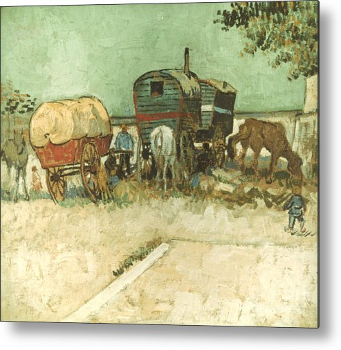 1888 Metal Print featuring the photograph Van Gogh: Gypsies, 1888 by Granger