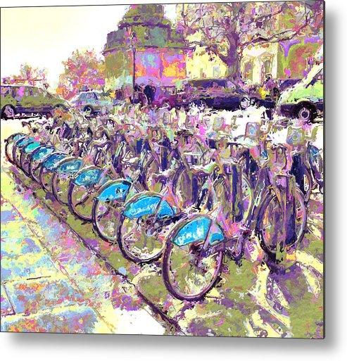 London Metal Print featuring the digital art London Bikes by Yury Malkov