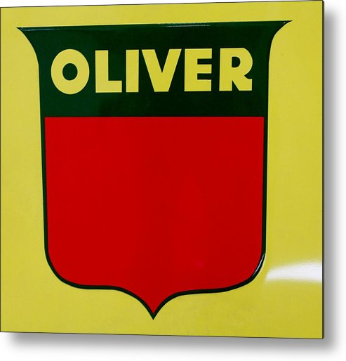 Farm Metal Print featuring the photograph Oliver Sign by Nelson Skinner