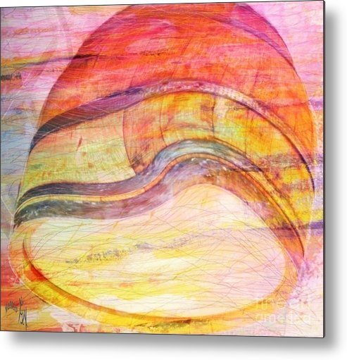 Bumped Wine Barrel Metal Print featuring the painting Bumped Wine Barrel by PainterArtist FIN
