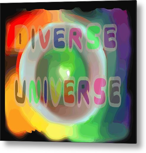 Diverse Metal Print featuring the painting Diverse Universe by Pharris Art