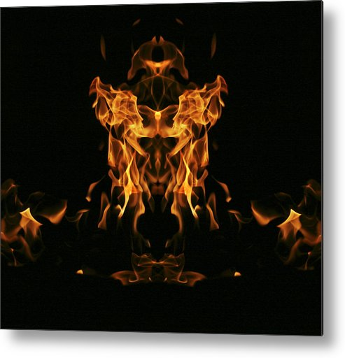 Fire Metal Print featuring the photograph Fire Monster by Richard ONeil