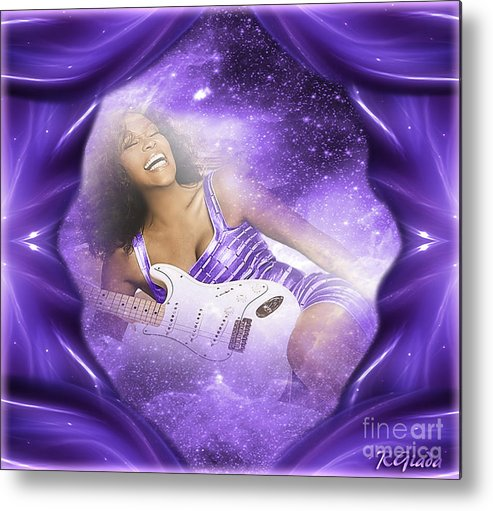 Happy Birthday In Heaven Metal Print featuring the digital art Happy Birthday In Heaven - Tribute Art By Giada Rossi by Giada Rossi