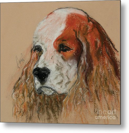 Dog Metal Print featuring the pastel Idle Thoughts by Cori Solomon