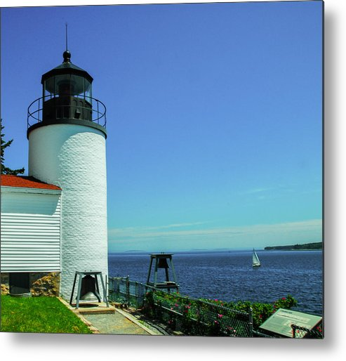 Maine Metal Print featuring the photograph Bass Harbor Head Lighthouse by Will Burlingham