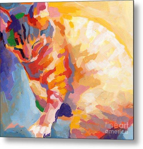 Mona Lisa Metal Print featuring the painting Mona Lisa's Rainbow by Kimberly Santini