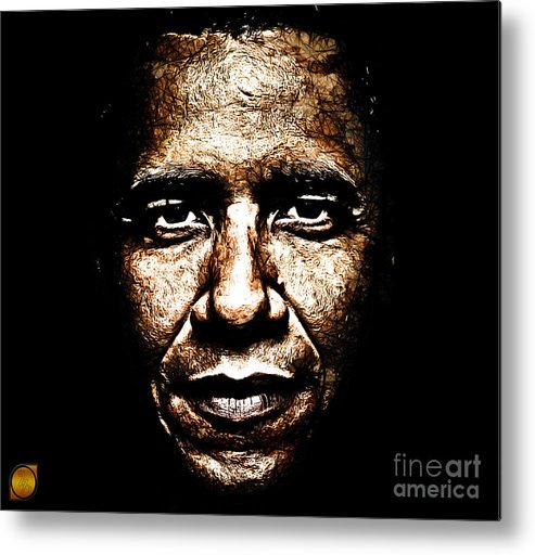 Barack Obama Metal Print featuring the digital art The President by The DigArtisT