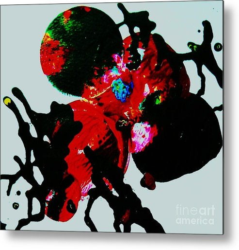Abstract Metal Print featuring the painting Red Spider Nebula by Roberto Prusso