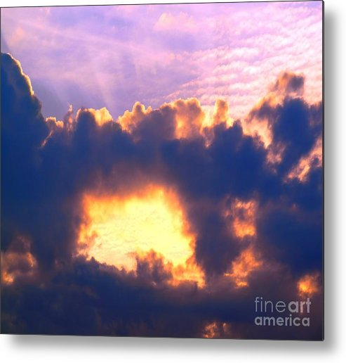 Clouds Metal Print featuring the photograph Dramatic Cloud And Sun Formation by Yali Shi