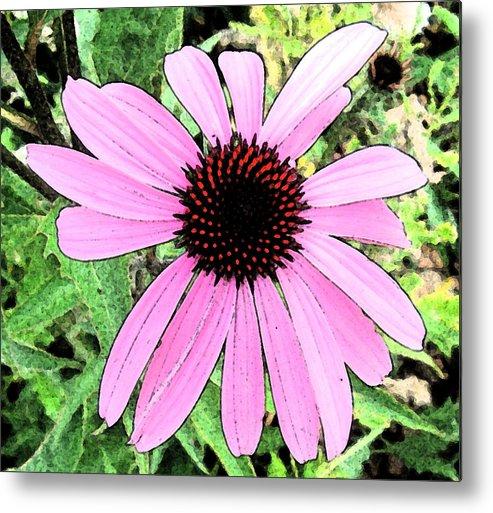 Artbykennedy Metal Print featuring the digital art Purple Flower by Bill Kennedy