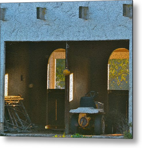 Digital Photos Metal Print featuring the photograph Two Tractor Garage by Bill Owen