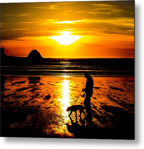 Metal Print featuring the photograph Sunset Bay Beach by Angus Hooper Iii