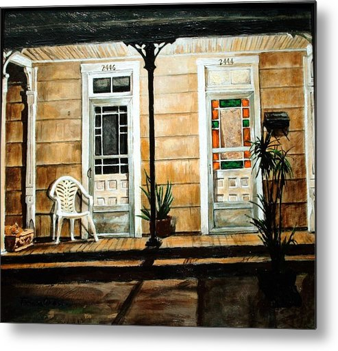 Night Scene Metal Print featuring the painting 2446- 2444 by Thomas Akers
