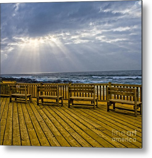 Chairs Metal Print featuring the photograph Sea by Caddelle Faulkner