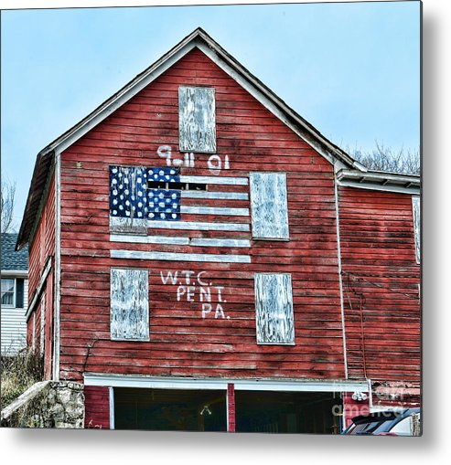 Paul Ward Metal Print featuring the photograph 9 11 Tribute by Paul Ward