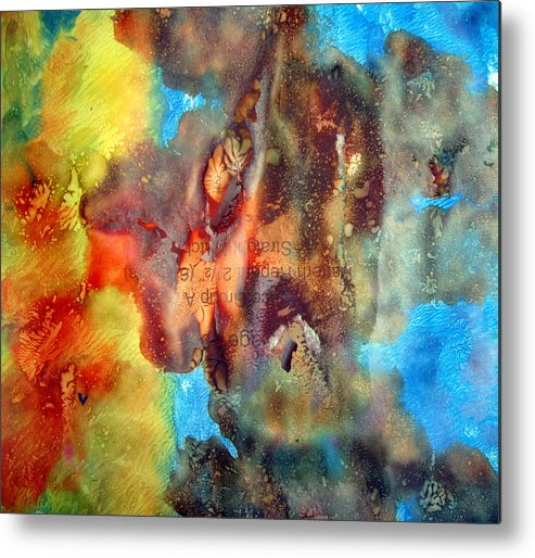 Abstract Metal Print featuring the painting Art Leigh Odom 0005 by Leigh Odom