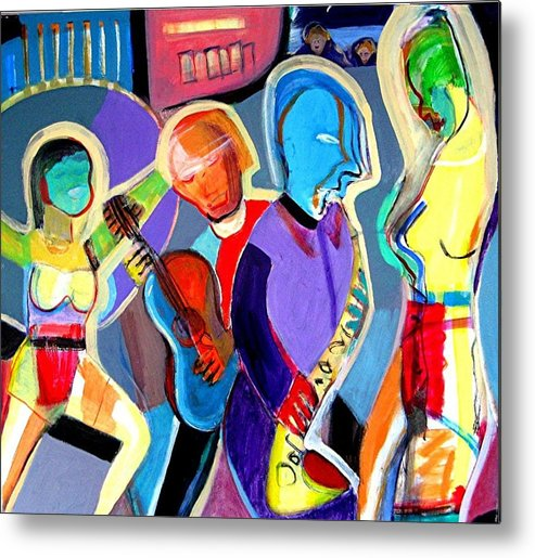 Jazz Metal Print featuring the painting Cabaret by Barron Holland