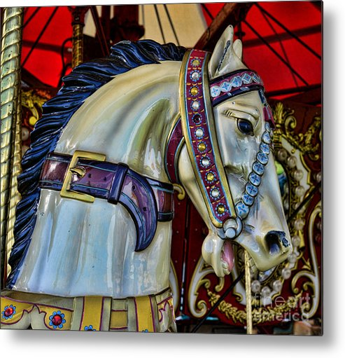 Carousel Metal Print featuring the photograph Carousel Horse - 7 by Paul Ward