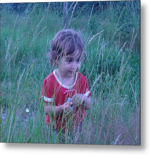 Landscape Metal Print featuring the photograph Innocense Of A Child by Sharon Stacey