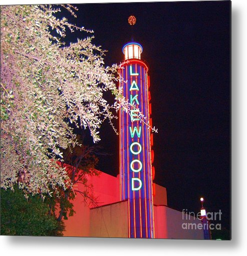 Theater Metal Print featuring the photograph Lakewood Theater by Debbi Granruth