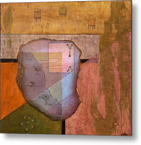 Abstract Landscape Metal Print featuring the painting Pheromones by Katherine Weston