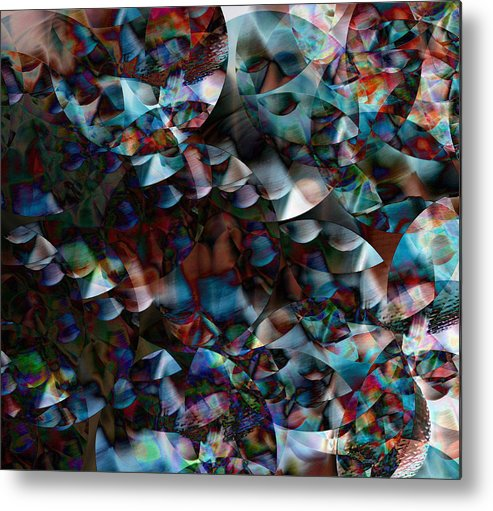 Abstract Metal Print featuring the digital art Revision by Joshua Sunday
