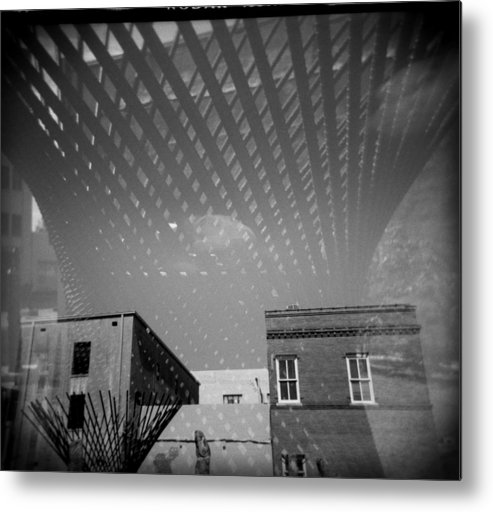 Holga Metal Print featuring the photograph Steel Standing by Paul Anderson