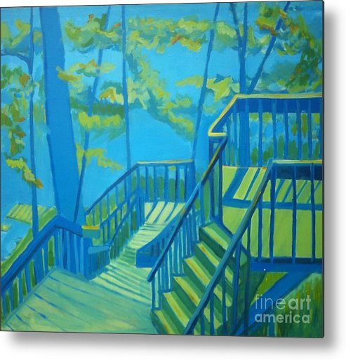 New Hampshire Metal Print featuring the painting Suncook Stairwell by Debra Bretton Robinson