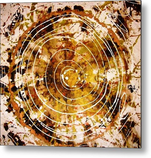 Circlabstracte Metal Print featuring the painting The Eternal Circle by Baljit Chadha