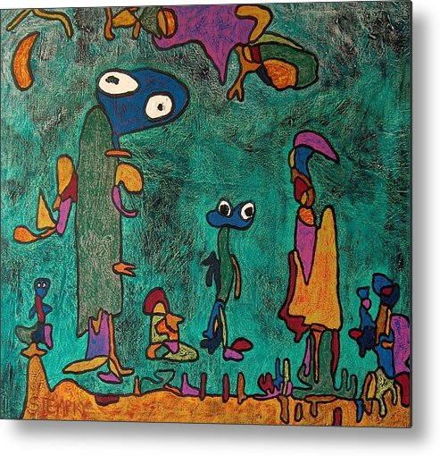 Abstract Metal Print featuring the painting Topsy Turvy Day by Jacob Stempky
