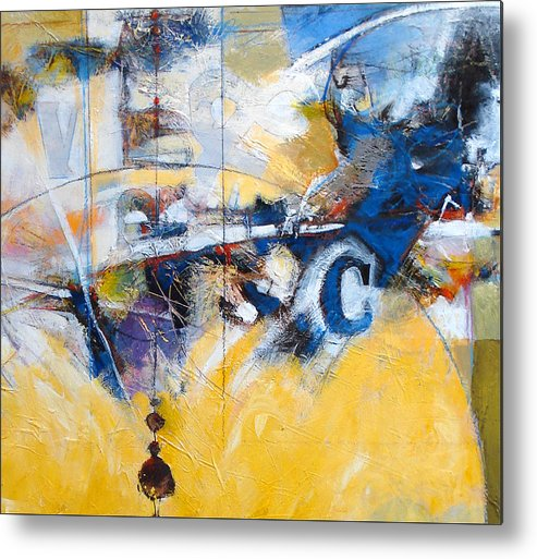 Abstract Metal Print featuring the painting Weight And C by Dale Witherow