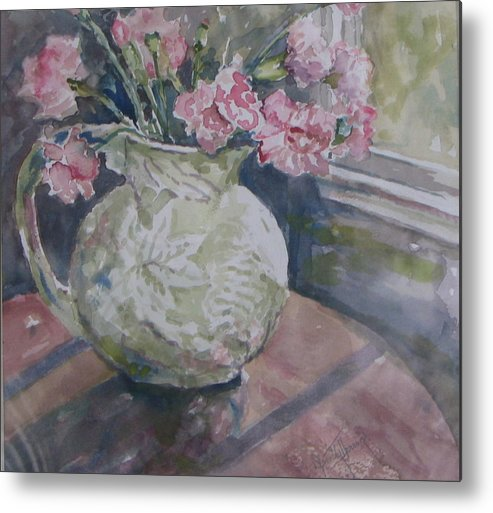Metal Print featuring the painting Windowview by Dorothy Herron