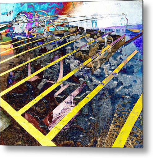 Yellow Metal Print featuring the digital art Yellow by Dave Kwinter