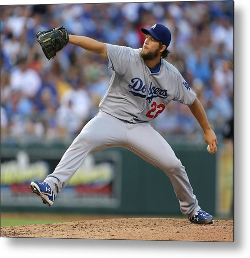 People Metal Print featuring the photograph Clayton Kershaw by Ed Zurga