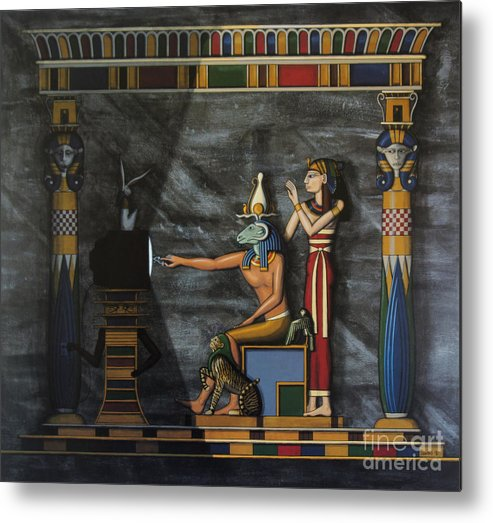 Egypt Metal Print featuring the painting B.c. Before Cable by Richard Deurer