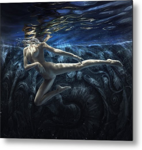 Girl Metal Print featuring the photograph Dark World by Dmitry Laudin