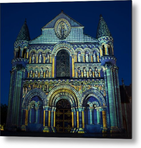 Architecture Metal Print featuring the photograph Eglise Notre Dame La Grande Poitiers France by Austin Brown