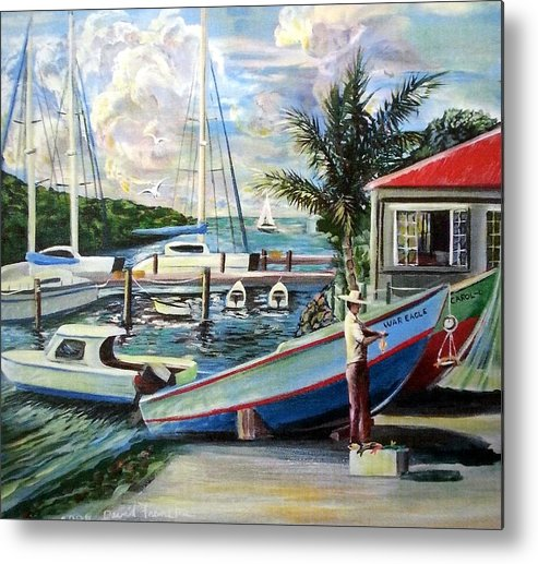 Caribbean Metal Print featuring the painting Frenchtown by David Francke