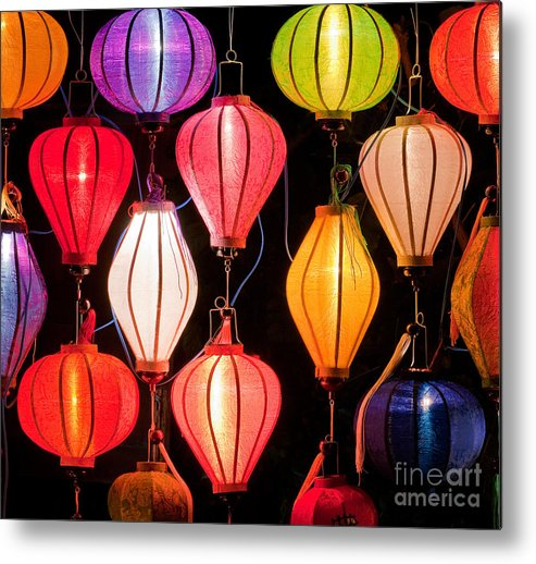 Vietnam Metal Print featuring the photograph Lantern Stall 04 by Rick Piper Photography
