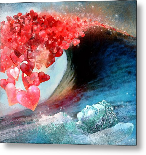 Love Metal Print featuring the painting Love Wave by Miki De Goodaboom