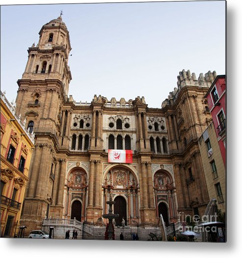 Spain Metal Print featuring the photograph Malaga Cathedral by Rod Jones
